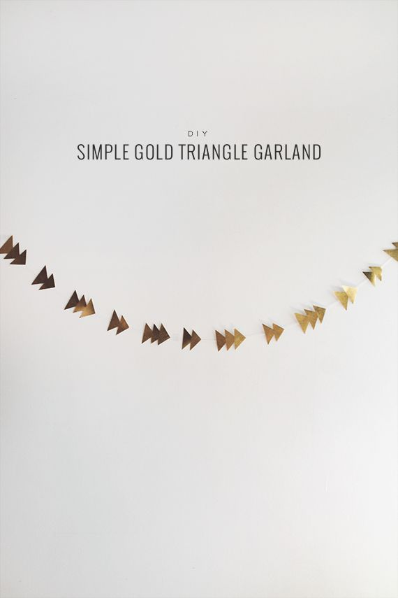 diy simple gold triangle garland
