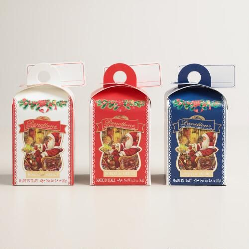 One of my favorite discoveries at WorldMarket.com: Borgo Mini Panettone Cakes, Set of 3