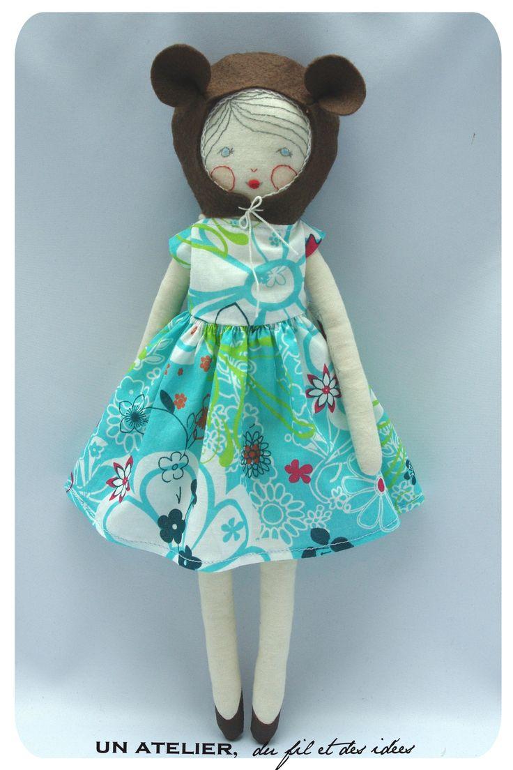 Melle Dimanche robe d'été turquoise2