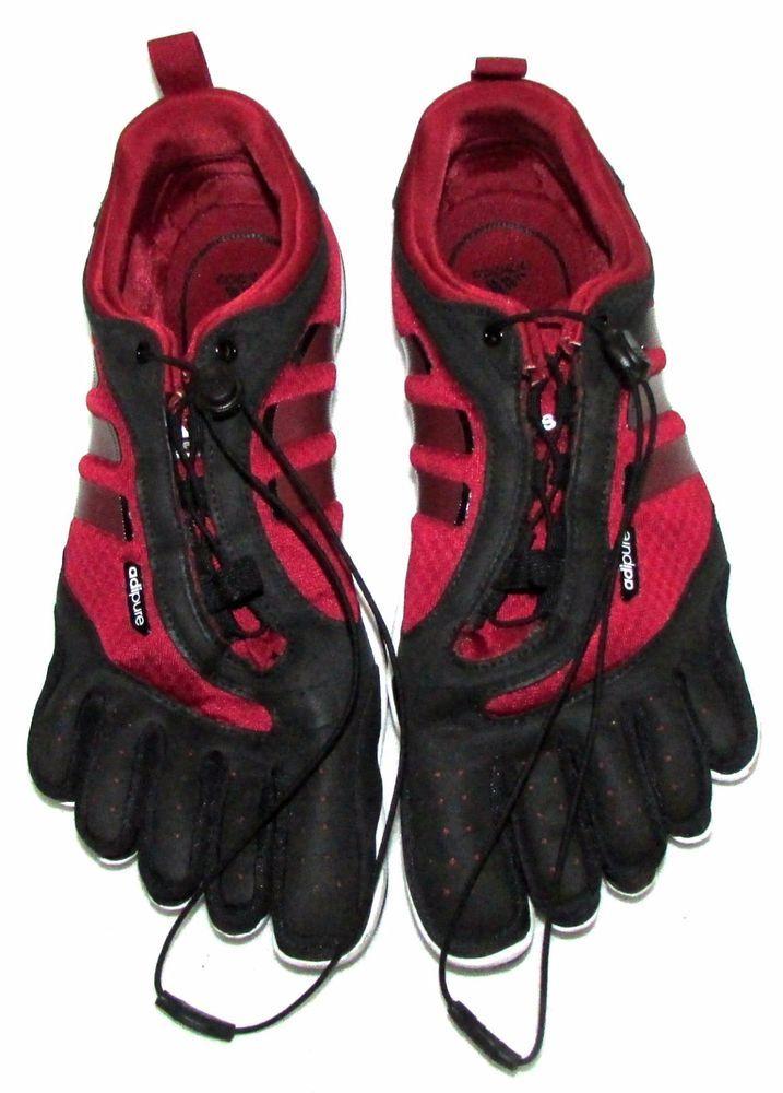 ADIDAS ADIPURE Barefoot Trainer Running Shoes Maroon Black US 10 Mens #adidas #RunningCrossTraining