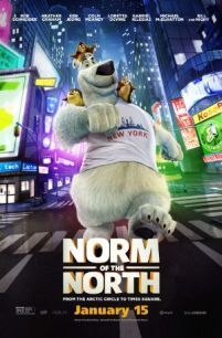 Norm of the North -  When a real estate development invades his Arctic home Norm and his three lemming friends head to New York City where Norm becomes the mascot of the corporation in an attempt to bring it down from the inside and protect his homeland.  Genre: Adventure Animation Comedy Actors: Bill Nighy Heather Graham Ken Jeong Rob Schneider Year: 2016 Runtime: 90 min IMDB Rating: 3.6 Director: Trevor Wall  Norm of the North full movie - post source here: InsideHollywoodFilms