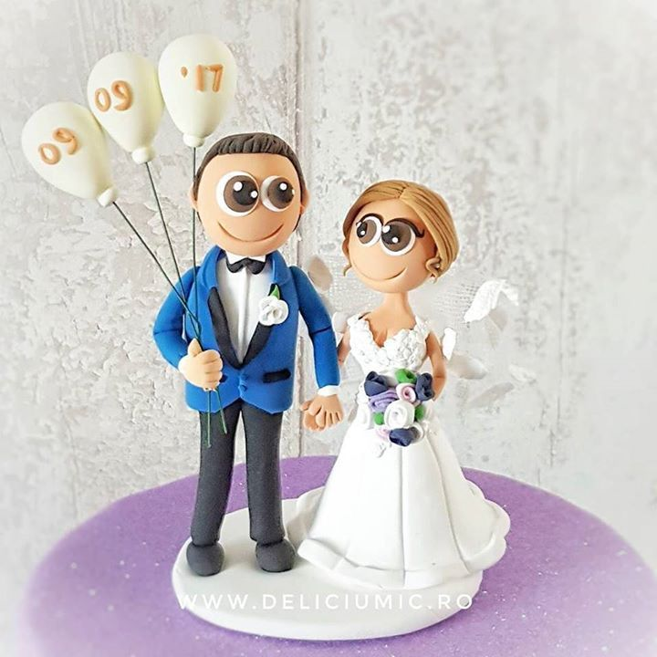 Happy Bride & Groom #CakeTopper  . #DeliciumMic #weddingcaketopper #caketopper #weddingcaketoppers #customcaketopper #caketoppers #amazingcakes #cutecaketopper #handmadecake #handmade #polymerclay #polymerclayart #fimo #fimocreations #brideandgroom #bride #groom #craft #crafting #ilovehandmade #happybride #wedding #balloons . @anatudoraa - http://ift.tt/1ipRjKg -