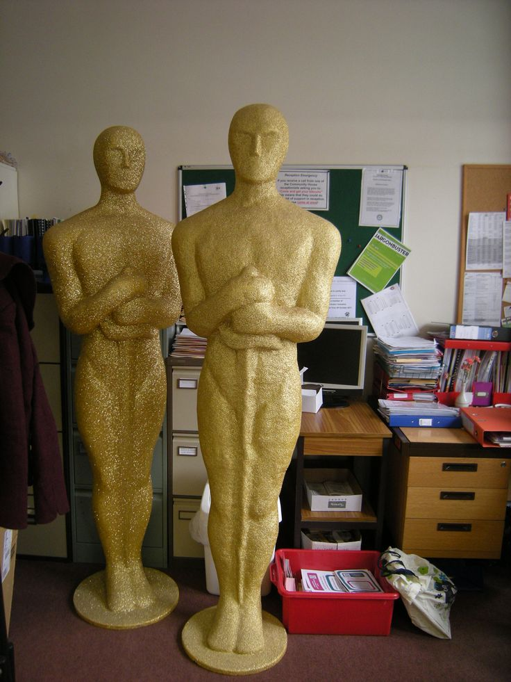 We know the Volunteering Oscars are drawing closer when our office is over taken by large golden men...
