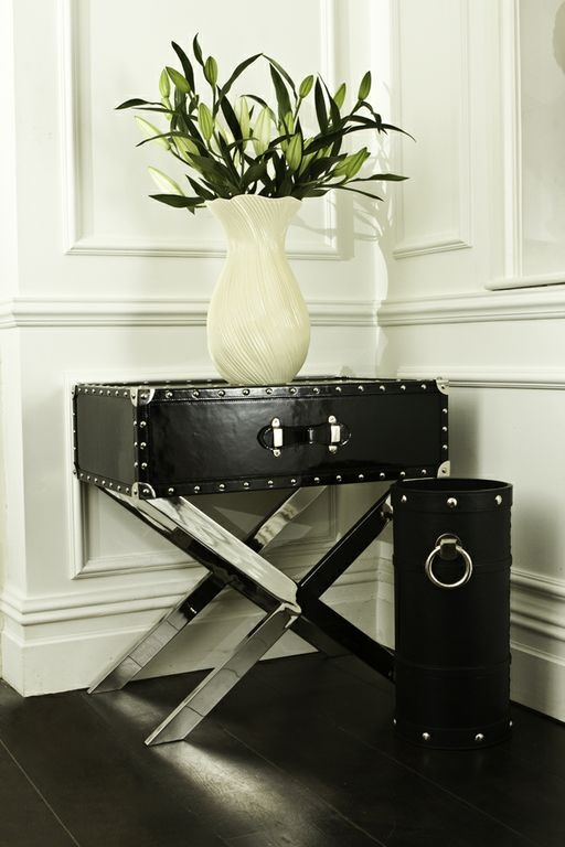 Delightful The Denver Side Table Is Finished In Smart Black Patent Leather With A  Highly Polished Black Pictures Gallery