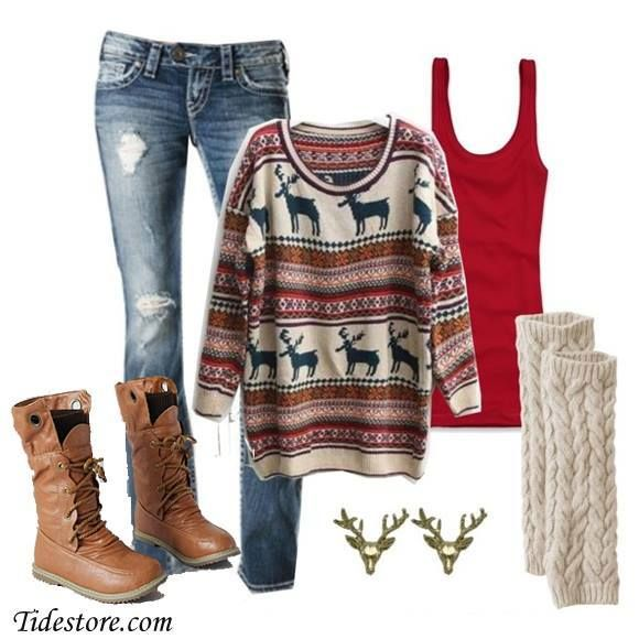 Christmas Outfits for Any Occasion | It's finally Christmas time |  Sweaters, Winter outfits, Outfits - Christmas Outfits For Any Occasion It's Finally Christmas Time