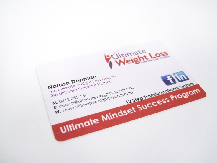 ultimate weight loss plastic business cards business