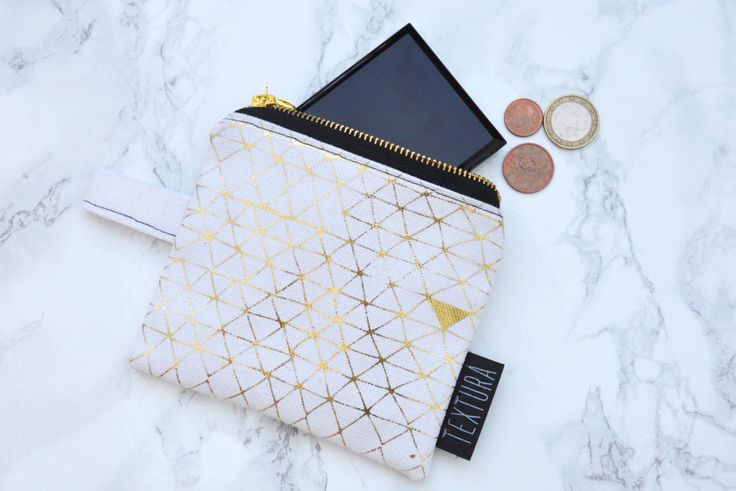 Little golden piramids pattern Gold foil screenprinted women's accessories Small off white pouch Small canvas clutch original one of a kind by TexturaCollection on Etsy https://www.etsy.com/il-en/listing/400192975/little-golden-piramids-pattern-gold-foil