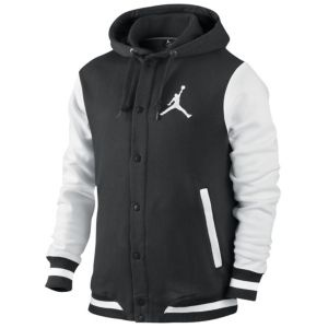Jordan Varsity Hoodie - Men's - Basketball - Clothing - Black/White