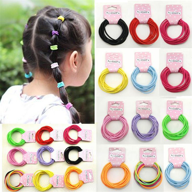 2016 Cute Kids Hair Accessories Baby Solid Candy Elastic Hair Bands Fashion Headbands Plastic Headdress Rubber Headwear For Girl