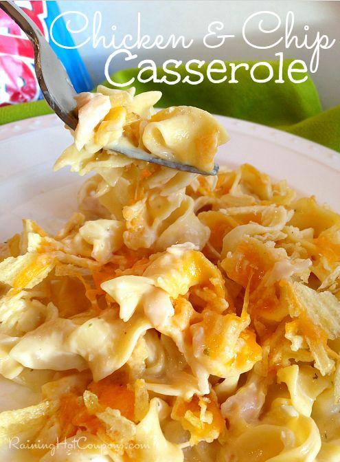 Chicken and Chip Casserole Recipe --> http://www.raininghotcoupons.com/chicken-and-chip-casserole-recipe