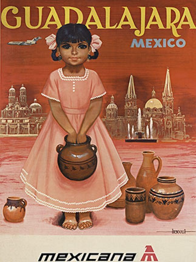 secretosdemimemoria:  Vintage Guadalajara tourism poster from Mexicana de Aviación.