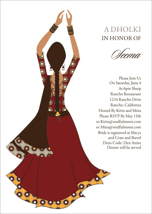 Clapping Diva Indian Bridal Shower Invitations by # ...