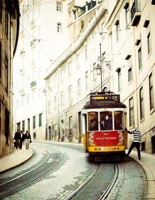 #ridecolorfully - i will need to ride along side the trollies of Lisbon.