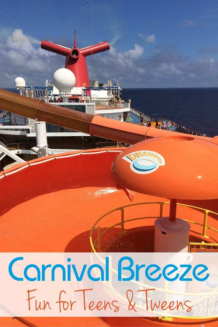 There is lots of fun for Teens and Tweens on the Carnival Breeze