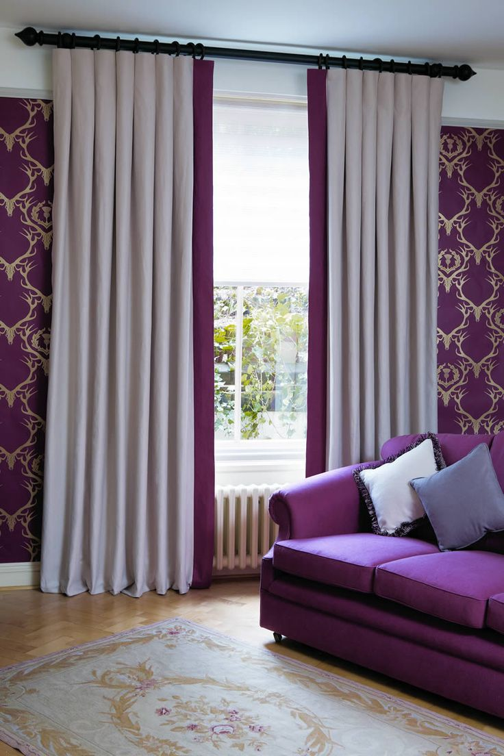 Curtains with Leading Edge Border