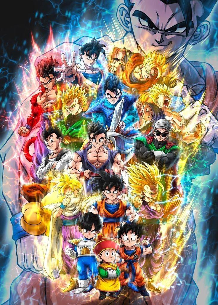 Ssj Son Gohan Evolution Dragon Ball Super Artwork Dragon Ball Painting Anime Dragon Ball Super