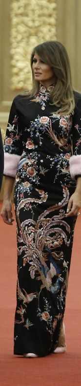 First Lady Melania Trump in Gucci while in China 11/09/17