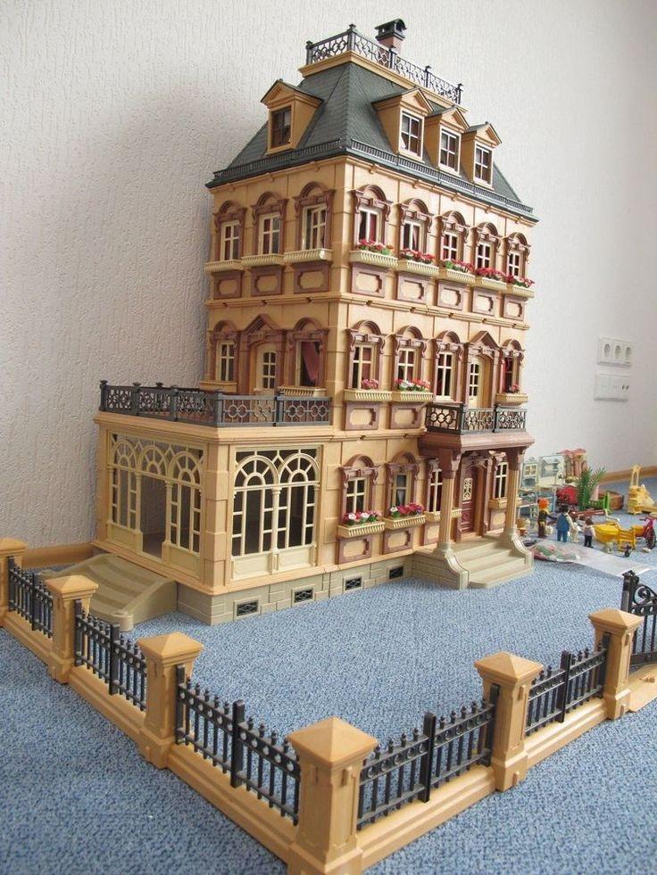 playmobil nostalgie puppenhaus villa mit einrichtung und. Black Bedroom Furniture Sets. Home Design Ideas