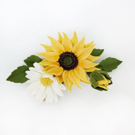 Sunflower Headband Sunflower Hair Clip Sunflower Hair Accessories Sunflower Floral Crown Summer Photo Shoot Accessories In 2020 Sunflower Floral Crowns Sunflower Headband Floral Crown