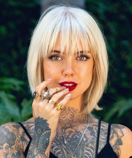 Eye Catching Full Fringe Bob Haircuts and Hairstyles 2020 for Your Distinctive Style