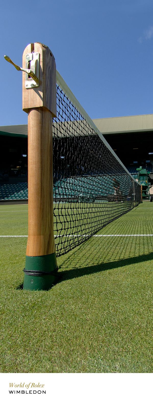 Wimbledon net post. #Rolex #RolexOfficial