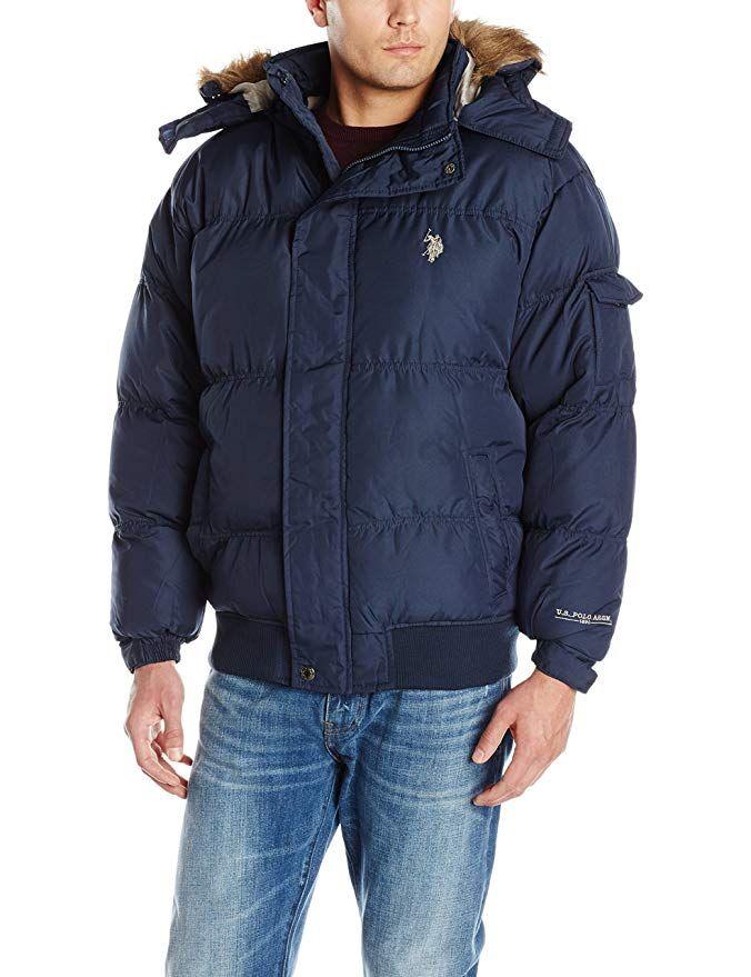 U.S Polo Assn Mens Long Snorkel Jacket with Hood