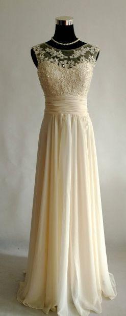 Champagne Bridesmaid Dress Long Bridesmaid Dress