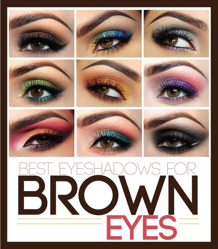 colorful make up for brown eyes
