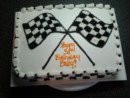 Cake Decorating Checkered Flag : Checkered flag cake Cake designs Pinterest Birthdays ...