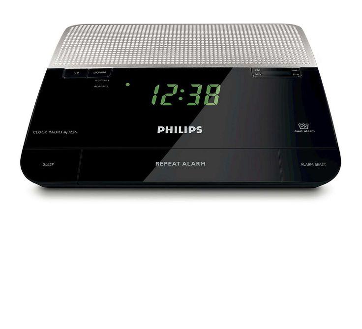 Ceas cu radio si alarma pentru noptiera Philips
