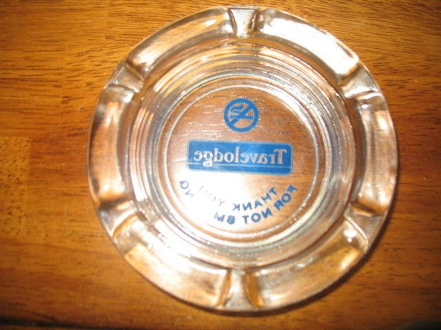 "Vintage Travel Lodge hotel ""Thank you for not smoking"" ashtray"