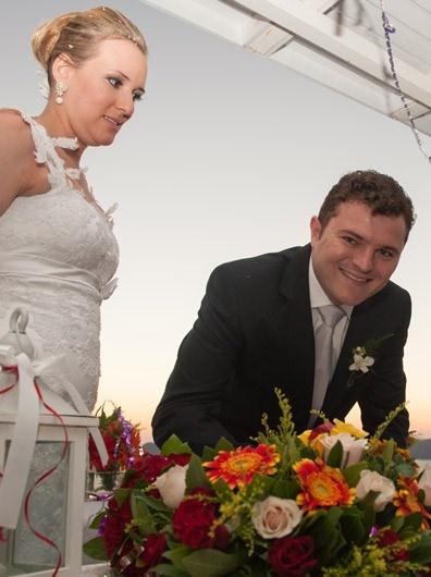 Just married...when the sun when down  #Santorini #weddings www.santorini-weddings.info