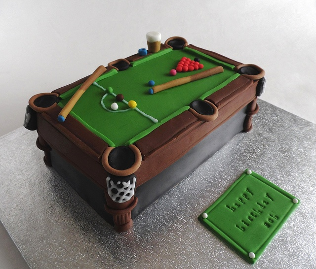 25+ Best Ideas About Pool Table Cake On Pinterest