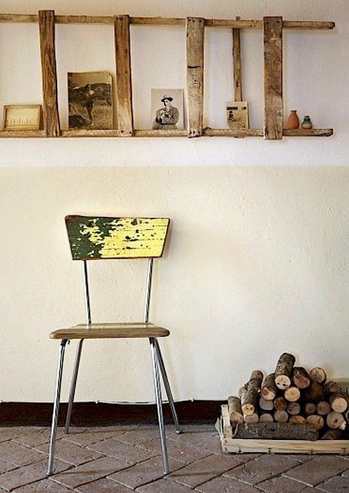 Wabi Sabi: The Art of the Imperfect: The elegant withering of an old ladder and chair  — via Wabi Sabi Style.