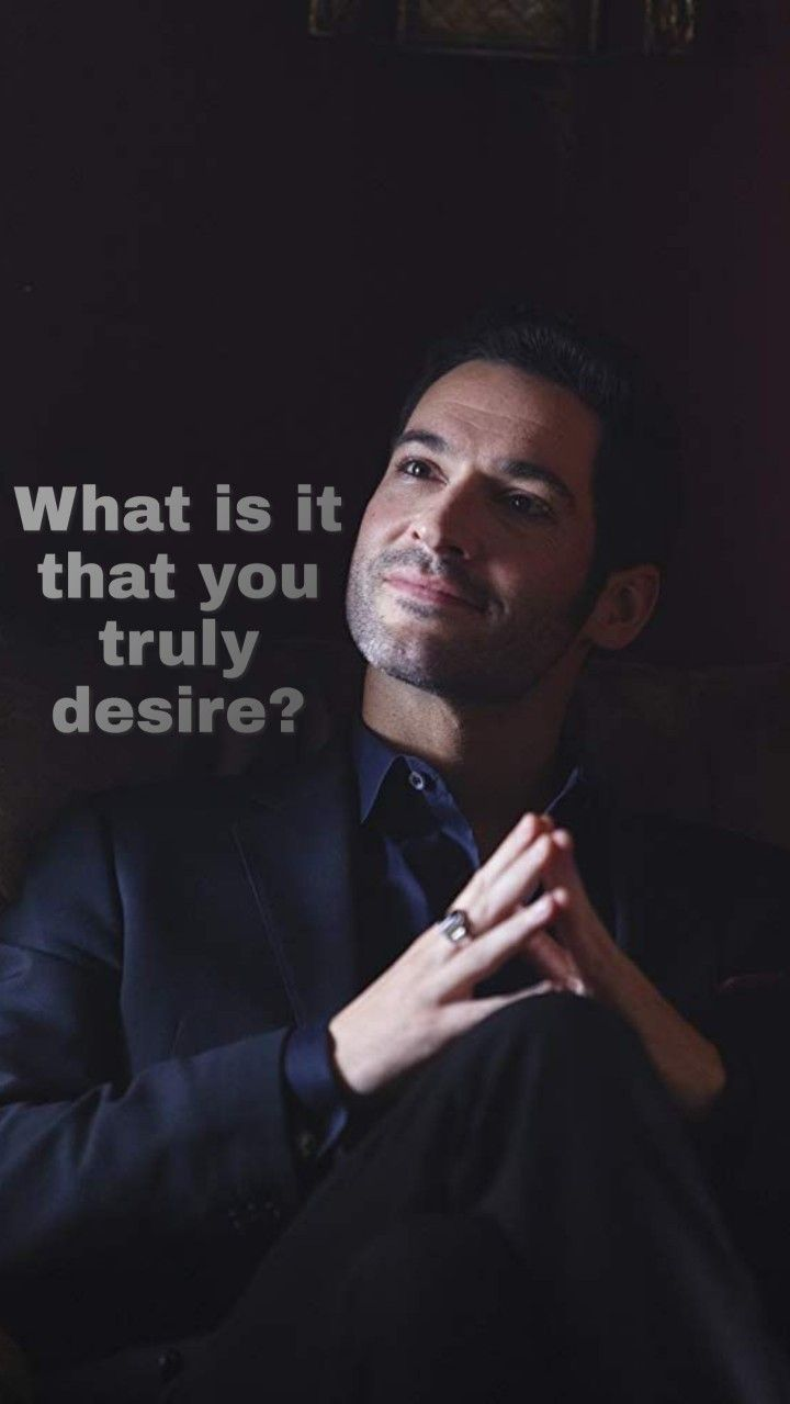 LUCIFER TOM ELLIS 8x10 INCHES MINI POSTER WHAT IS IT THAT YOU TRULY DESIRE