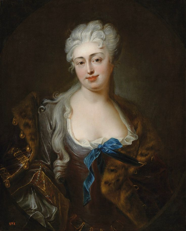 Portrait of Marianna Denhoffowa née Bielińska by Ádám Mányoki, before 1719 (PD-art/old), Muzeum Łazienki Królewskie (MLK), from the collection of Stanislaus Augustus, Marianna was a younger sister of Franciszek Bieliński and mistress of King Augustus II