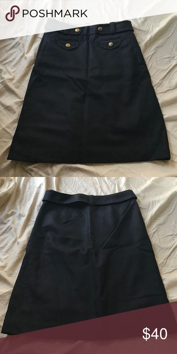 Jcrew wool skirt size P2 Wool jcrew A line military style skirt size petite 2. Excellent condition! J. Crew Skirts A-Line or Full