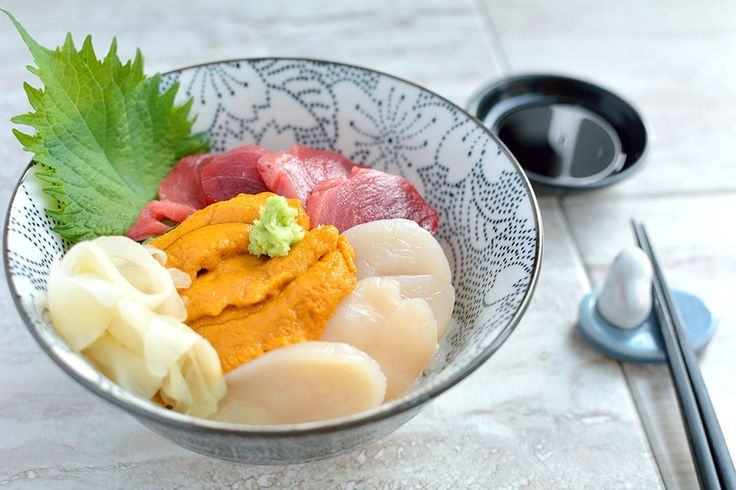 Chirashi bowl - If you love sushi - you'll love chirashi as it's essentially sashimi on top a bed of sushi rice. It looks beautiful too! Instructions on the blog.