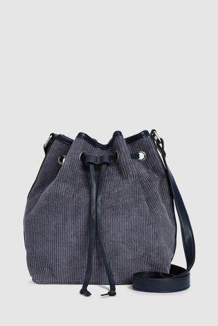 b85adbd63c90 Buy Grey Corduroy Bucket Bag מנקסט ישראל