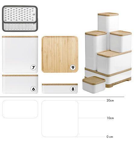 boîtes de stockage assorties pour la cuisine Rig-Tig by Stelton