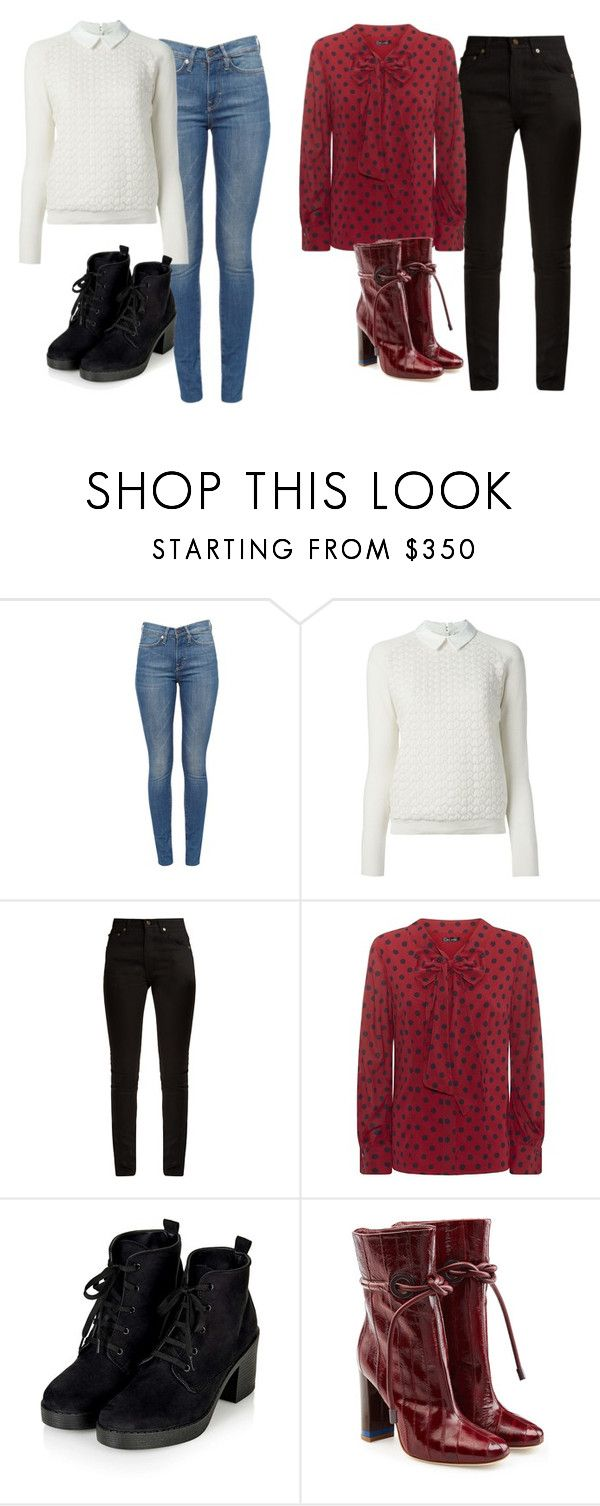 """""""Senza titolo #1214"""" by itsberlin ❤ liked on Polyvore featuring Tory Burch, Yves Saint Laurent, St. John and Malone Souliers"""