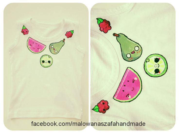 hand-painted child's t-shirt  facebook.com/malowanaszafahandmade