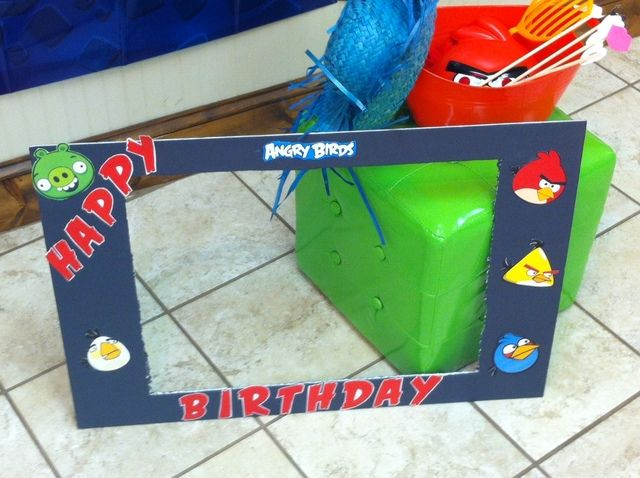 Angry Bird picture frame