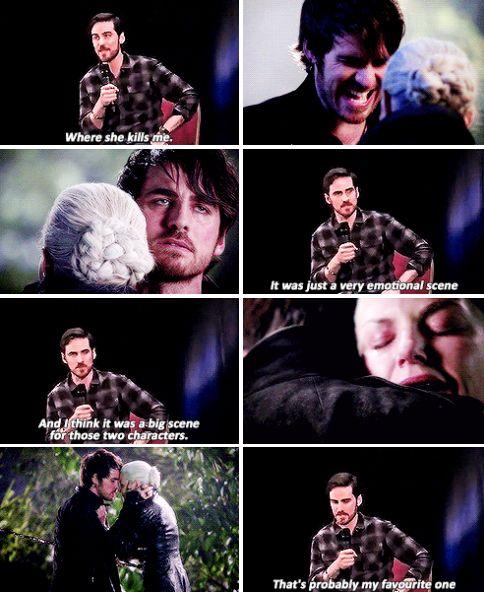 Colin's answer to the most romantic scene.