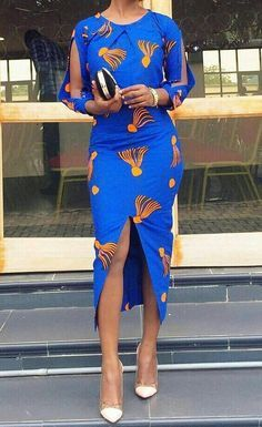 African print dress/African clothing/African wax print