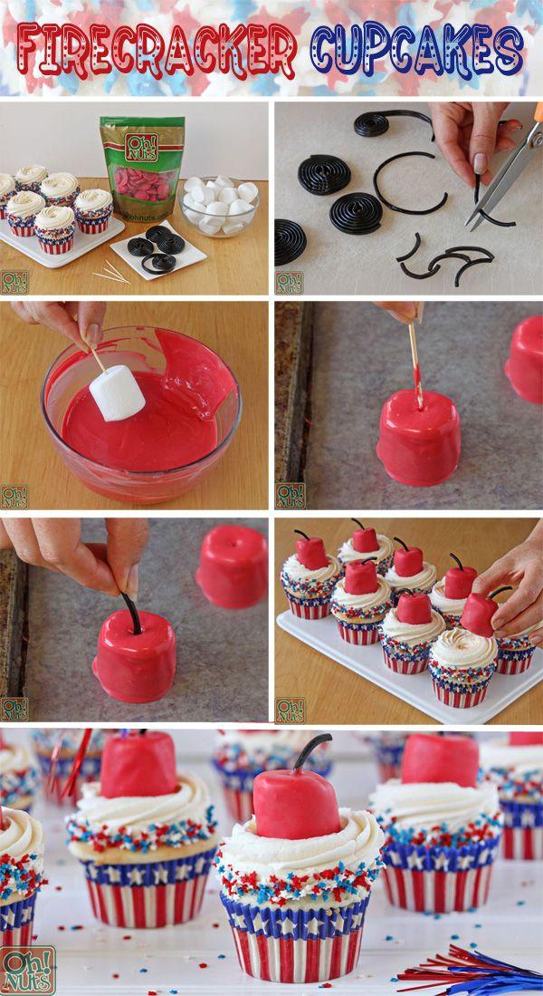 How to Make Firecracker Cupcakes | OhNuts.com
