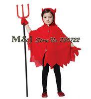 Бесплатная доставка! Игривый красный дьявол хэллоуин злой ведьмы костюм , потому в детский сад дети играют платье