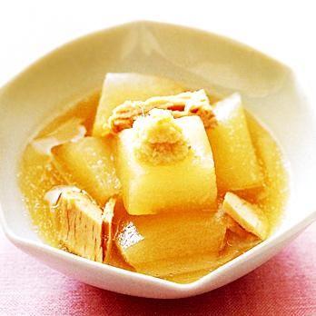 とうがんとツナのあっさり煮 | 舘野鏡子さんのおつまみの料理レシピ | プロの簡単料理レシピはレタスクラブニュース