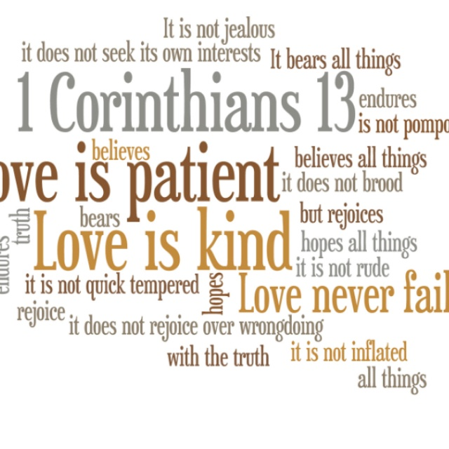 Items Similar To Corinthians Bible Scripture Word Art Love Is Patient Inch Canvas Stock On Etsy