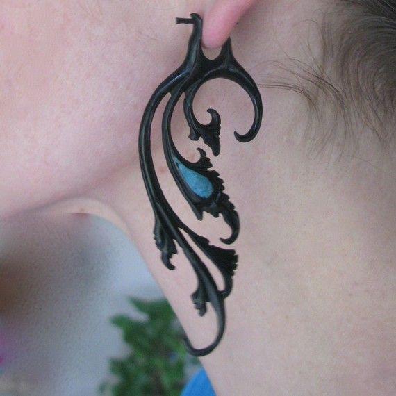 Breathless earrings  horn by sanfranblissco on Etsy, $28.00
